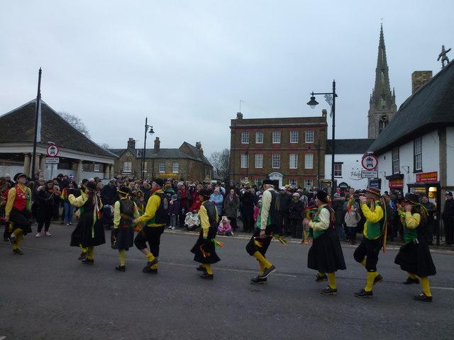 Dancing on Market Street - Whittlesea Straw Bear Festival 2018