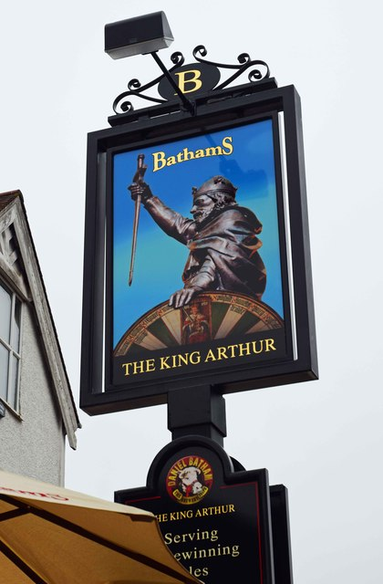 The King Arthur (2) - sign, 139-141 Worcester Road, Hagley, Worcs