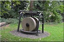 TQ2668 : An old millstone, Ravensbury Park by N Chadwick