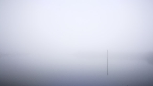 The Abercorn Basin in the fog