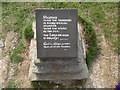 TV5895 : Bible Verse Plaque on Beachy Head by David Hillas