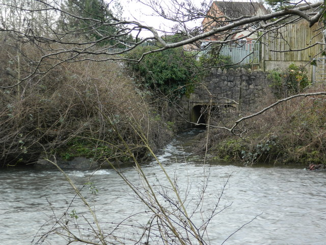 Outfall of the Nant  Felin-fach into the River Ely