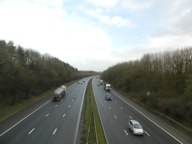 The M4, looking east from Brynsadler