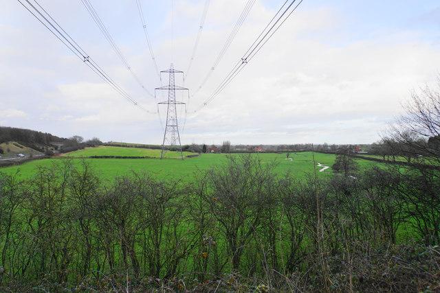 Line of pylons at Darnford