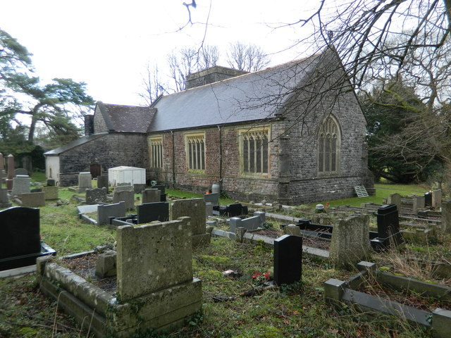 St Anne's Church and graveyard, Talygarn