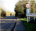 SP2512 : Fulbrook boundary sign by Jaggery