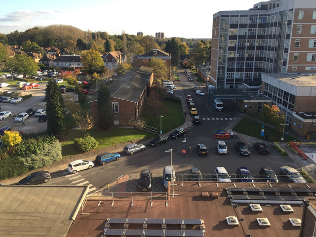 Buildings and car parks, Good Hope Hospital, Sutton Coldfield