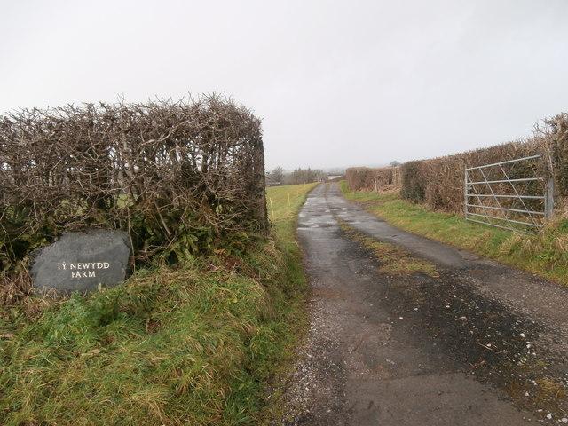 Gateway and track to Ty Newydd Farm