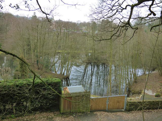Private lake outside Bingley