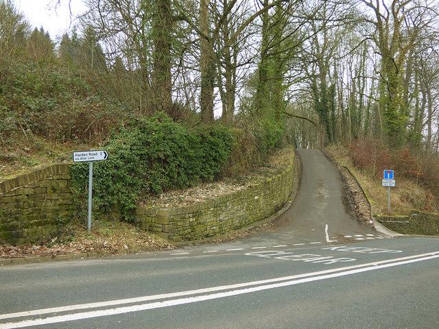 East end of Altar Lane, Harden Road, Bingley