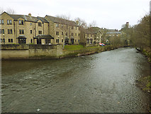 SE1039 : River Aire downstream of Ireland Bridge, Bingley by Stephen Craven