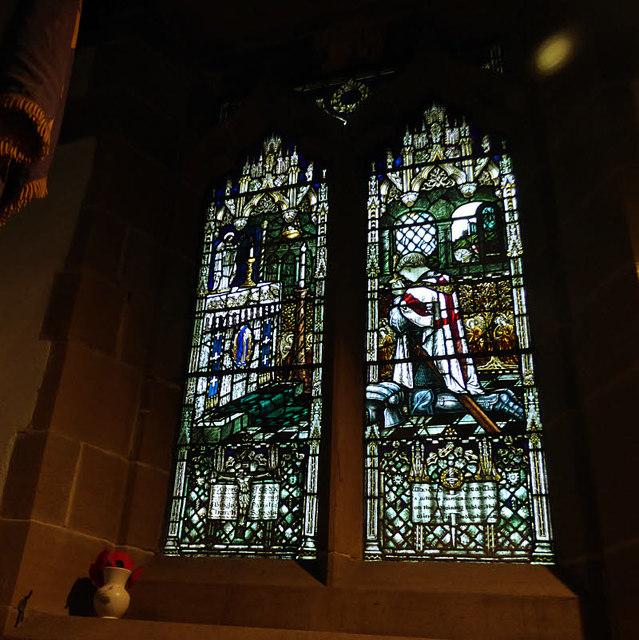 All Saints, Bingley - war memorial window