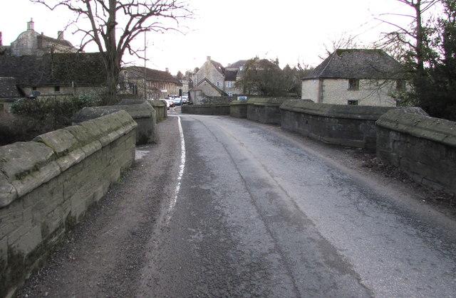 Medieval bridge over the River Windrush, Burford