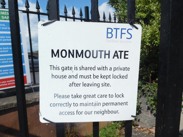BT Notice near Monmouth Telephone Exchange