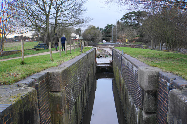 Borrowcop Locks on the Lichfield Canal
