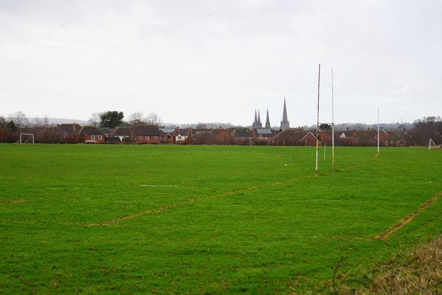 Playing field on Borrowcop Hill