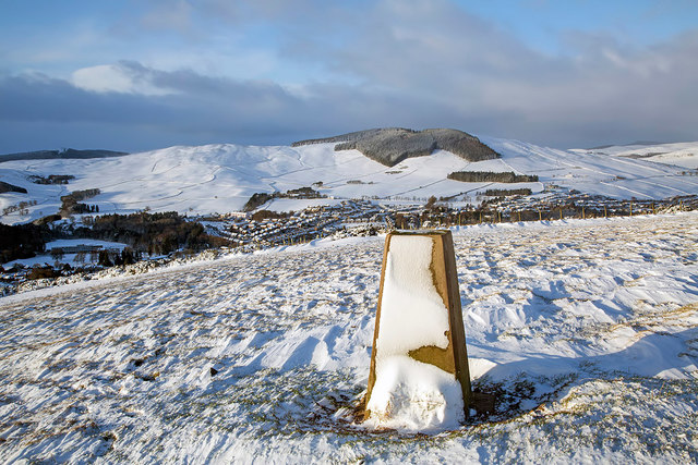 The trig point on Blaikie's Hill