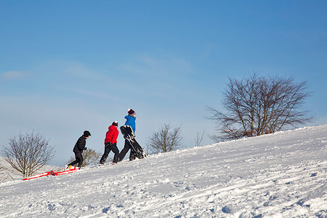 Sledging on Ladhope Golf Course
