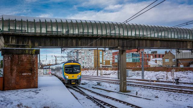 Transpennine service for Liverpool Lime Street arriving at Darlington