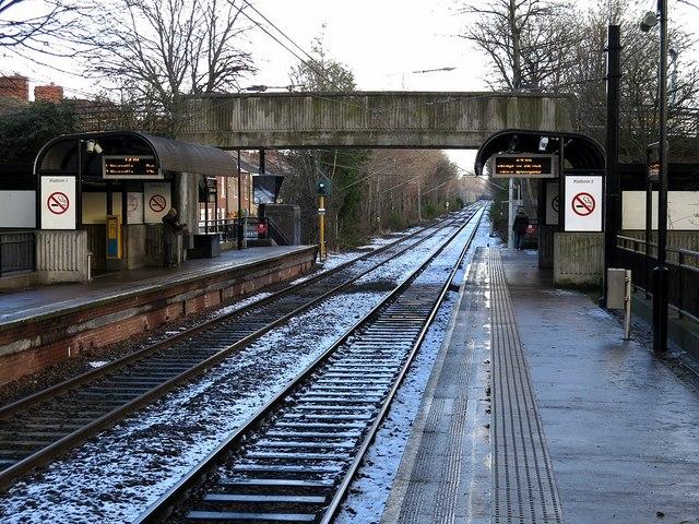 Hadrian Road Metro Station (looking east)