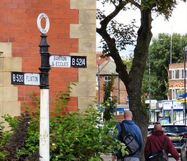 Signpost at Urmston
