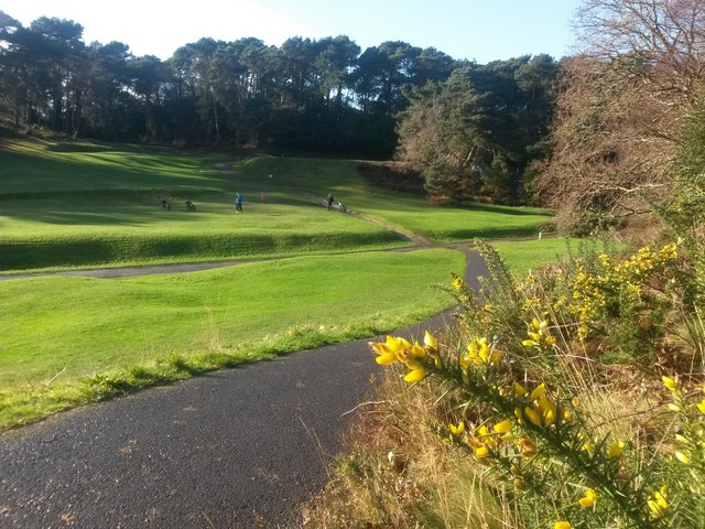 Bournemouth: golfers on the seventh green