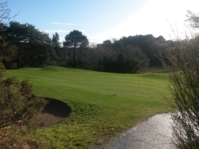 Bournemouth: the eighth green at Meyrick Park