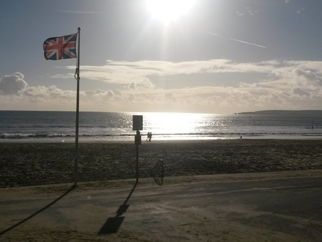 Branksome: Union Jack on the prom