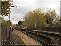 SJ9490 : Romiley railway station - bridge over Stockport Road (top) by Stephen Craven