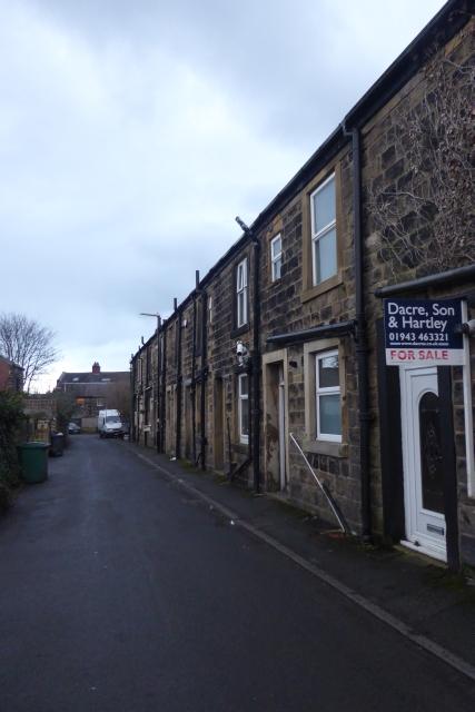 Terraced houses along Crow Lane