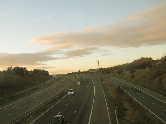 M1 north of junction 37