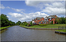 SJ8934 : Canal and housing north-west of Stone, Staffordshire by Roger  Kidd