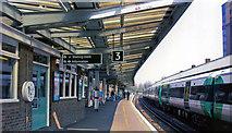 TQ3266 : West Croydon station, north on Up platform, 2005 by Ben Brooksbank