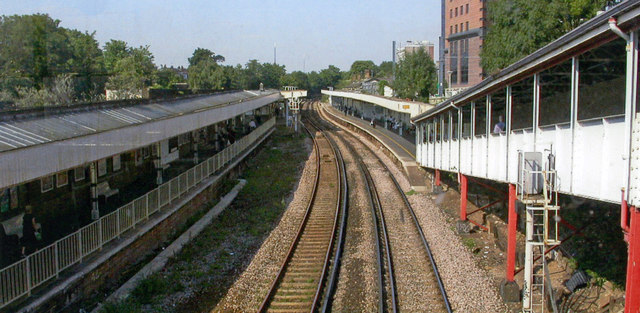 West Croydon station, north from London Road, 2005