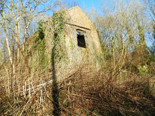 Derelict building (disused mine), Llanharry