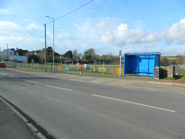 Playground and bus-shelter, Llanharry