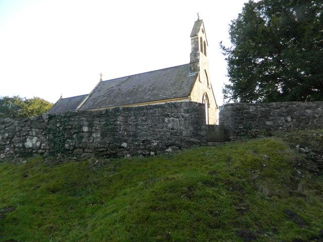 Stile into churchyard, St Illtyd's Church, Llanharry