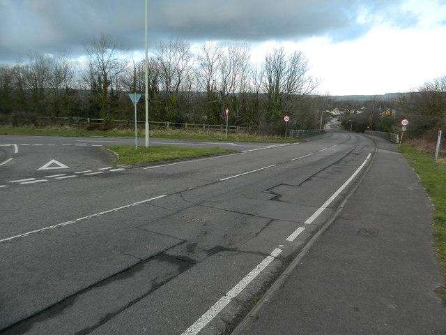 Road junction near M4, Llanharry