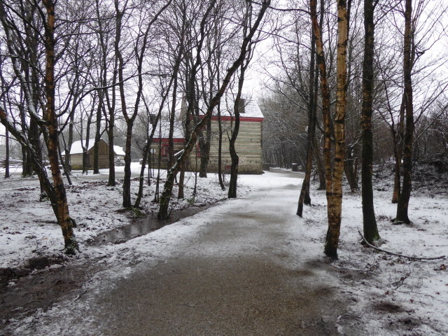 Wintry at Ulster American Folk Park