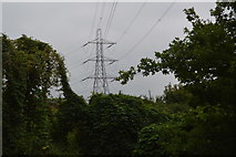 TQ2767 : Pylon in the Wandle Valley by N Chadwick