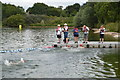 SU8805 : The finish, South East Region Openwater Championship, Chichester Water Sports Centre by N Chadwick