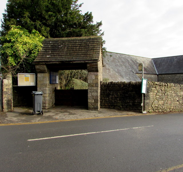 Lychgate entrance to the Parish Church of St Denys, Lisvane, Cardiff