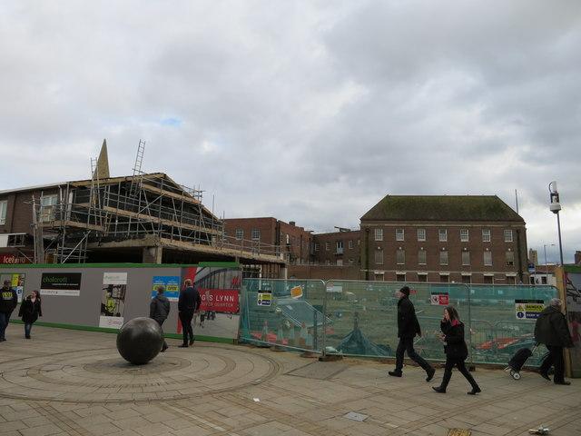 Redevelopment of shopping area in King's Lynn, Norfolk - 1