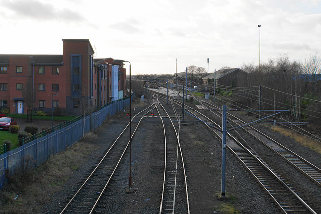 Railway approaching Lichfield City