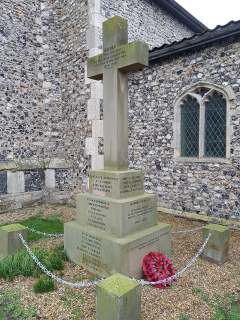 War memorial in the grounds of All Saints church, Alburgh