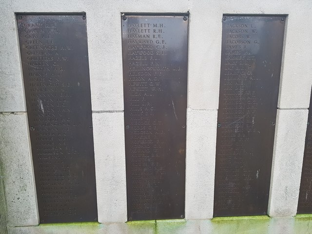 Names of the fallen on the Great Yarmouth WW2 War Memorial 5