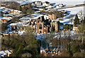 NT5434 : Melrose Abbey from the Eildon Hills by Walter Baxter