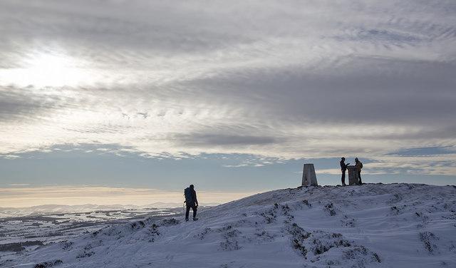 At the summit of Eildon Mid Hill