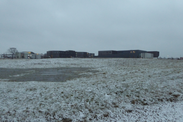Heslington East in the snow
