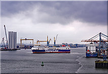 J3677 : Stena Precision arriving in Belfast - January 2018 by The Carlisle Kid